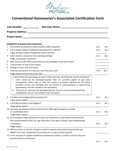 Conventional Condo Questionnaire