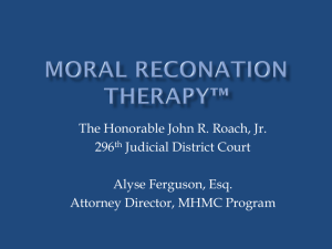 Moral Reconation Therapy*