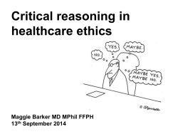 Cases 2: Critical reasoning