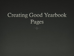Creating Good Yearbook Pages