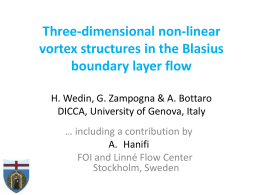 Three dimensional vortex structures in the Blasius boundary layer