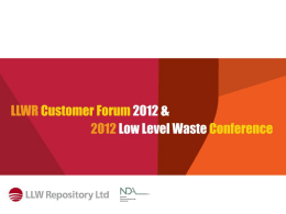 LLWR Transport Service - Low Level Waste Repository Ltd