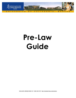 Pre-Law Guide - Center for Career & Professional Advancement
