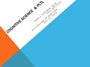 Cognitive Science and PLTL