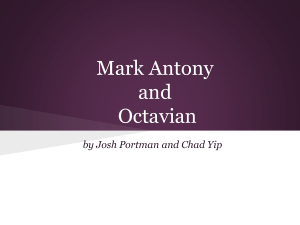Mark Antony and Octavian