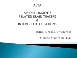 March Speaker Presentation – Apportionment