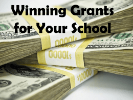 Winning Grants for Your School
