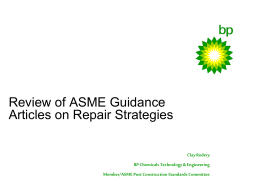 ASME Guidance Articles on Repair Strategies - C