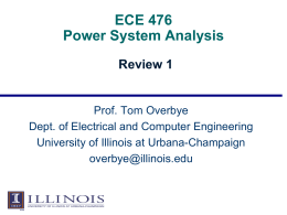 Review Lecture - University of Illinois at Urbana