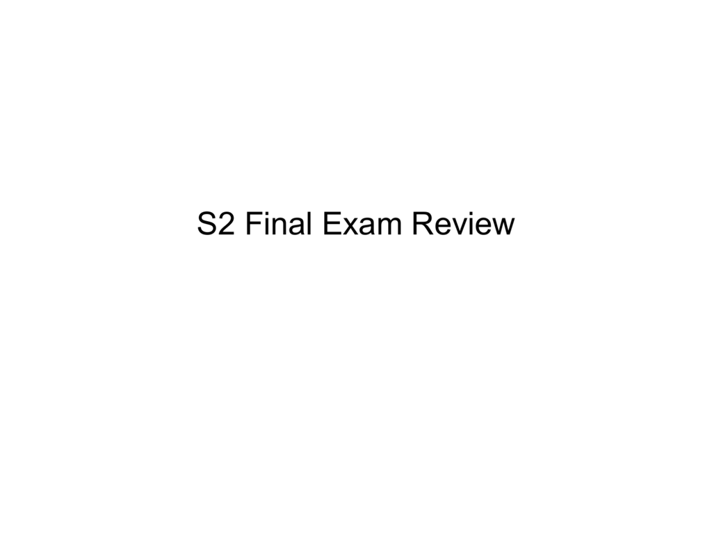 Final Exam Review PowerPoint