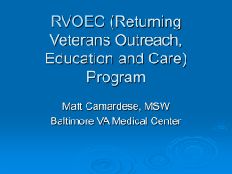 RVOEC (Returning Veterans Outreach, Education and