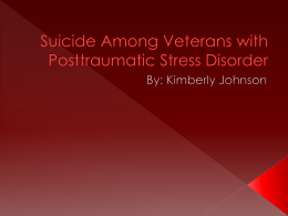 Suicide Among Veterans with Posttraumatic Stress Disorder