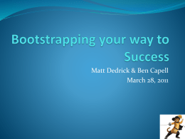 Bootstrapping your way to Success.2