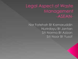 Legal Aspect of Waste Management