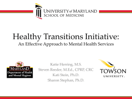 Maryland's Mental Health Initiatives