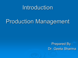 introduction-production management
