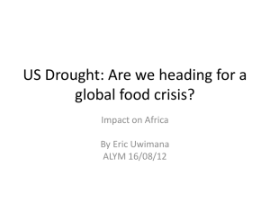 US Drought:Are we heading for a global food crisis?