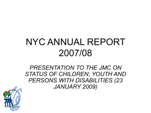 nyc annual report 2007/08 - Parliamentary Monitoring Group