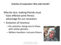 Evolution of cooperation