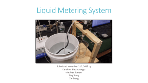 Liquid Metering System Project