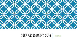 Self Assessment Quiz