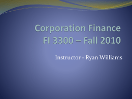 Chapter 1 Lecture - Ryan M. Williams at The University of Arizona