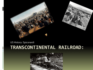 Transcontinental Railroad - White Plains Public Schools