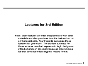 Lectures for 2nd Edition - CSIE -NCKU
