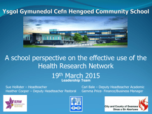 A school perspective on the effective use of the Health