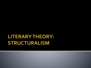 literary theory: structuralism - Mr. Robertson's Bunker