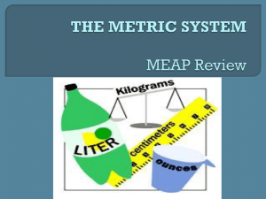 the metric system - msgreenshomepage