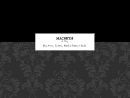 macbeth - Mrs. Alfred