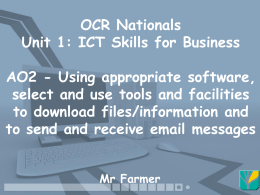 OCR Nationals Unit 1: ICT Skills for Business - St-James-ICT