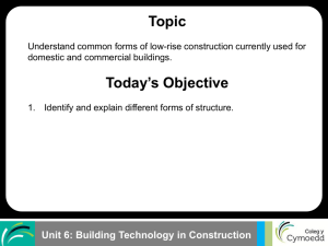 Unit 6: Building Technology in Construction