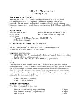 BIOSC Courses
