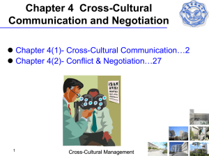 Chapter 4 Cross-Cultural Communication and Negotiation