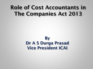 Role of cost Accountants
