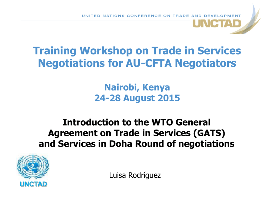 Training Workshop On Trade In Services Negotiations For Au