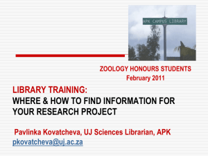 databases training - Sciences Librarian Portal