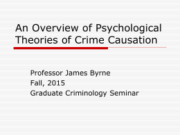 criminology psychological theories essay Free psychological theories papers, essays, and research papers  social  psychology is a field that attempts understated how thoughts, behavior and  feelings.