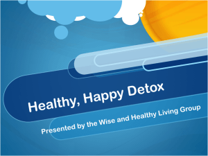 Healthy, Happy Detox - Wise and Healthy Living