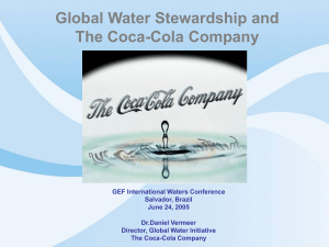 Global Water Stewardship and The Coca