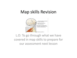map skills revision lesson