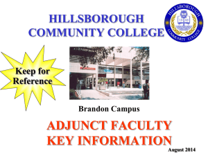 Class Days - Hillsborough Community College