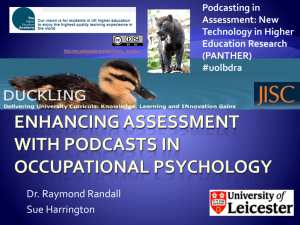 E-assessment in Occupational Psychology