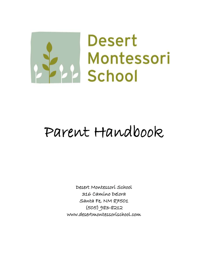 DMS Parent Handbook - Desert Montessori School
