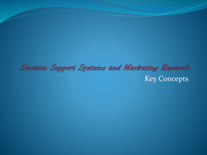 8. Decision Support Systems and Marketing Research