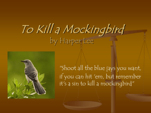 Introduction to To Kill a Mockingbird Powerpoint Presentation