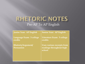 RHETORIC VOCABULARY