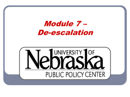 Module 6 – De-escalation
